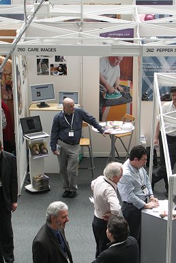 The Care Images stand at the BAPLA picture buyers' fair 2008