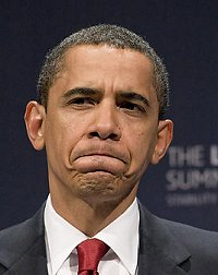 President Obama pulls a face