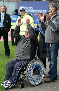 Disabled football supporter