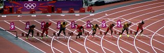 Olympics 100m final