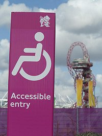 signage at the Paralympics 2012