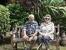 Elderly couple in the garden