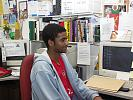 Young man in office