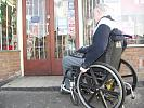 Disabled man shopping