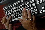 Specialist keyboard for people with visual impairment