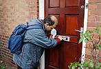 Man with learning disability employed in leaflet distribution