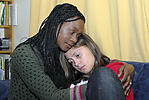 Foster parent and teenage looked-after child