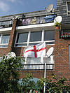 Flag of St George outside council house
