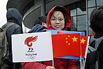 Pro-China demonstrator, Olympic torch ceremony, London