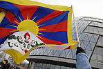 Tibetan flag, demonstration