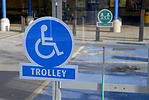 Disabled trolley park at supermarket