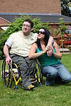 Happy together: Physically disabled man with able-bodied partner