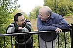 Asian man with Down's Syndrome with respite carer
