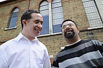 Men with learning disability share the moment