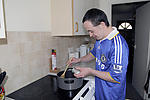 Living in the community: Man with learning disability cooking