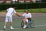 Sport for all: Disabled and able-bodied tennis players