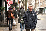 Man with learning disability walking to work