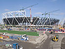 London Olympic Stadium under construction