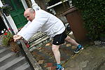 Man in his fifties preparing for run