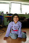 Girl with special needs at home