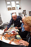 Art class for elderly people