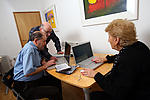 Elderly people developing IT skills