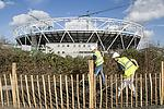2012 Olympic Stadium under construction