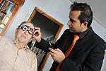 Optician doing home visit