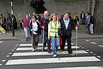 Visually impaired people on demonstration in London, May 2011