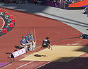 Participant in Paralympics long jump 2012
