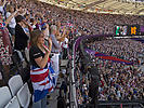 Excited fans in Olympic stadium, Paralympics 2012